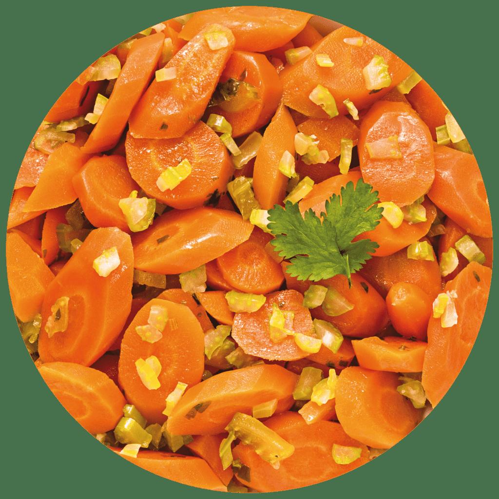 Image de la recette sauté de carottes au céleri branche et à l'estragon confit