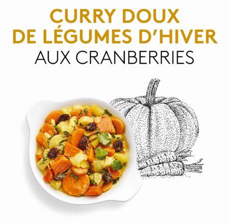 Photo du plat préparé curry de légumes d'hiver aux cranberries