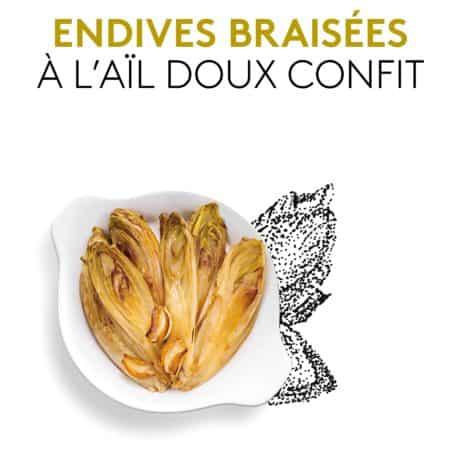 Photo du plat préparé Endives braisées à l'aïl doux confit