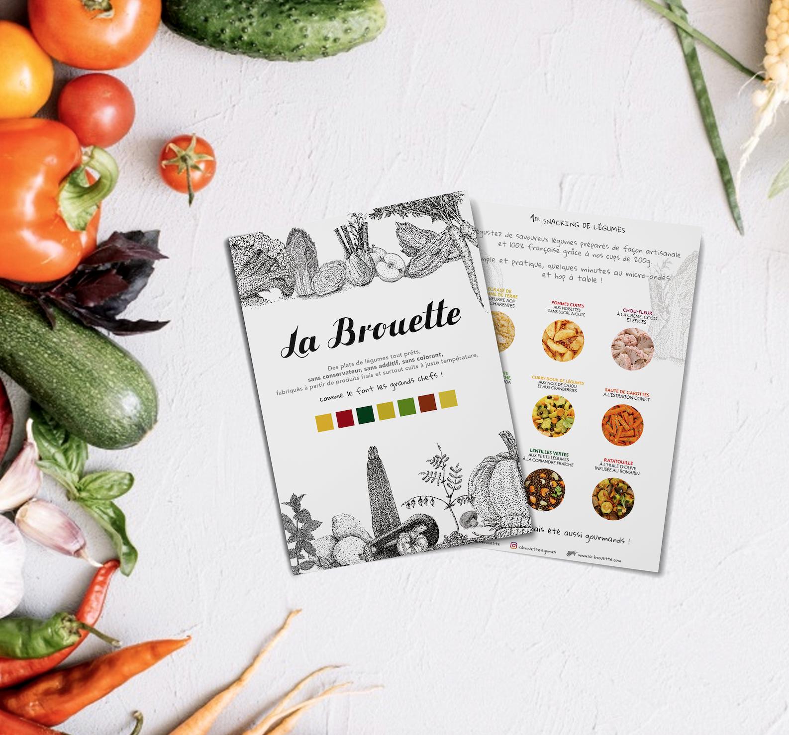 Flyer et légumes La Brouette